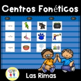 Centros fonéticos 06: Las Rimas:  Spanish Rhyming Phonics Center