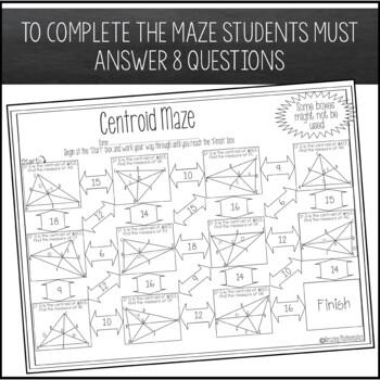 centroid maze by amazing mathematics teachers pay teachers. Black Bedroom Furniture Sets. Home Design Ideas