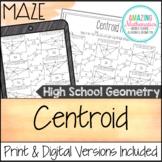 Centroid Worksheet - Maze Activity