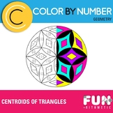 Centroids of Triangles Color by Number