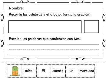 Centros de Aprendizaje Fonética letras Mm, Pp.    Literacy Centers Spanish
