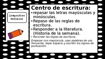 Centros de Lenguaje para clase Bilingue