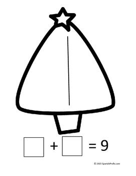 Centros de Matematicas Kinder y Primero. Diciembre (Spanish Math Centers)