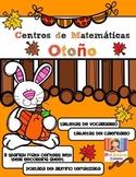 Centros de Matematicas en Español. El Otoño (Spanish Math Centers)