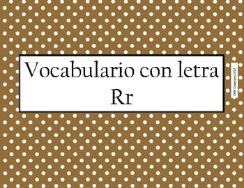 Centros de Vocabulario con letra R