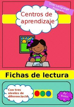 Centros de aprendizaje. Fichas de libros