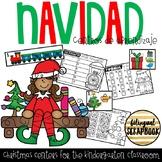 Centros de aprendizaje de Diciembre (December Centers in Spanish)