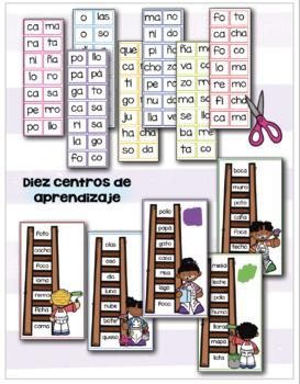 Centros de aprendizaje de sílabas - BUNDLE # 1