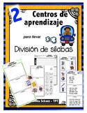 """Centros de aprendizaje en español """"PARA LLEVAR"""" - División de sílabas"""