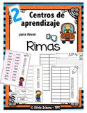 """Centros de aprendizaje en español """"PARA LLEVAR"""" - Rimas"""