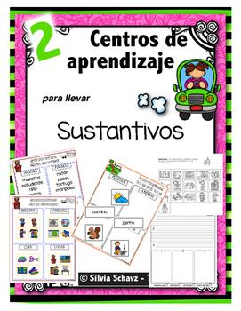 """Centros de aprendizaje en español """"PARA LLEVAR"""" - Sustantivos"""
