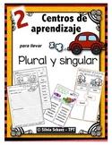 """Centros de aprendizaje en español """"PARA LLEVAR"""" - Singular y plural"""