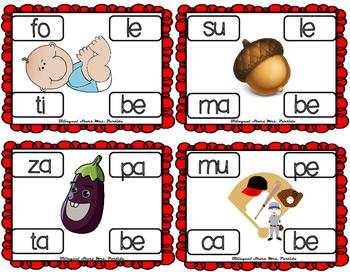 Centros de la letra  B b Lectoescritura Sonido Sílabas Bb Alphabet Centers