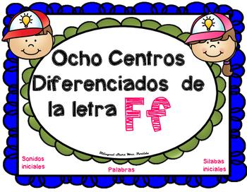 Centros de la letra F f Lectoescritura Sonido Sílabas Cent
