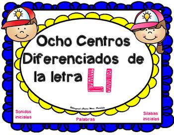Centros de la letra L l Lectoescritura Sonido Silabas Centers  Ll Mrs.Partida