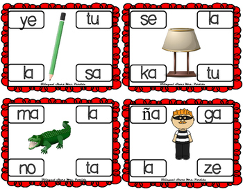 Centros de la letra L l Lectoescritura Sonido Silabas  Ll Alphabet Centers
