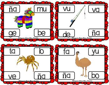 Centros de la letra Ñ ñ Lectoescritura Sonido Silabas centers  Nn Mrs.Partida