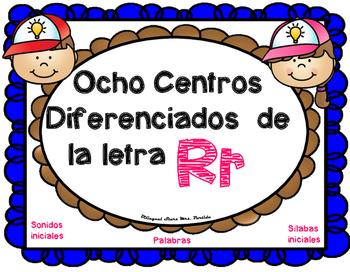 Centros de la letra R r Lectoescritura Sonido Silabas cent