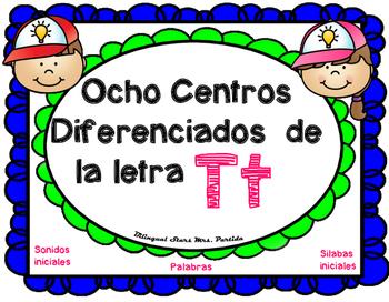 Centros de la letra T t Lectoescritura Sonido Silabas Cent