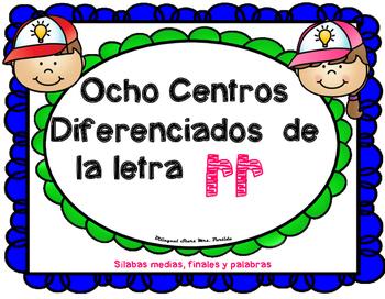 Centros de la letra rr Lectoescritura Sonido Silabas Centers rr Mrs.Partida