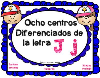 Centros de la letra J j Lectoescritura Sonido Silabas Cent