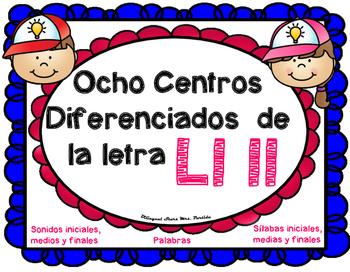 Centros de la letra Ll ll Lectoescritura Sonido Silabas Centers ll Mrs.Partida