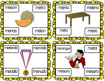 Centros de la letra M m Lectoescritura Sonido Silabas Centers Mm  Mrs.Partida