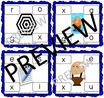 Centros de la letra X x Lectoescritura Sonido Silabas Xx Alphabet Centers