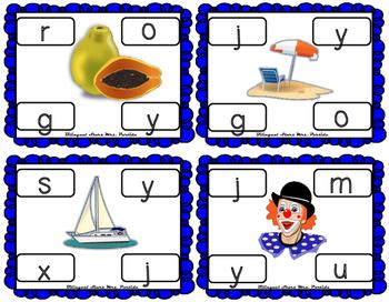 Centros de la letra Y y  Lectoescritura Sonido Silabas Centers Yy  Mrs.Partida