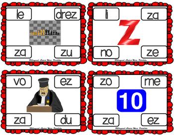 Centros de la letra Z z Lectoescritura Sonido Silabas Centers Zz Mrs.Partida