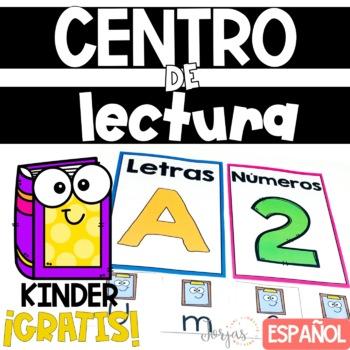 Centros de lectura gratis Literacy Centers Spanish Freebie