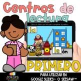 Centros de lectura para primero DIGITAL Ayudantes de la comunidad