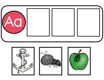 Rompecabezas del alfabeto y  sonidos iniciales en ingles y espanol