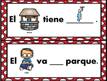 Centros diferenciados de palabras de alta frequencia (1er. grado)