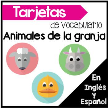 Tarjetas De Vocabulario Los Animales De La Granja En Ingles Y Espanol