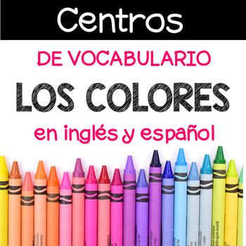 Centros de vocabulario: Los colores en ingles y espanol