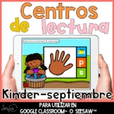 Centros digitales de lectura kinder Centers in Spanish Dis