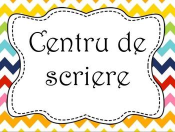 Centru de scriere - Postere -  limba romana