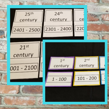 Centuries for Elementary Students