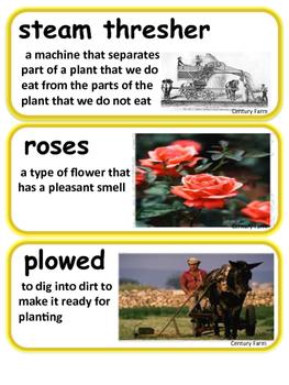 ReadyGen Century Farm Vocabulary / Kindergarten / Unit 2, Module B