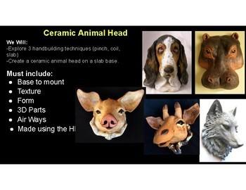 Ceramic Animal Head