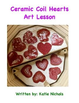 Ceramic Coil Hearts Art Project