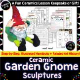 Ceramic Garden Gnomes! Delightful Art Sculptures!