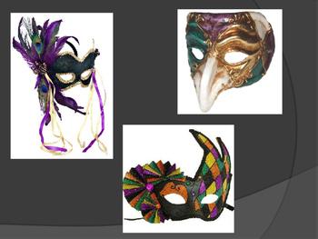 Ceramic Mardi Gras Masks Power Point