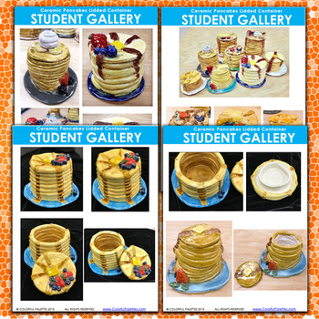 Ceramic Pancakes Lidded Container