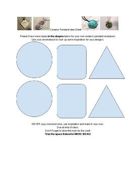 Ceramic Pendant Idea Sheet