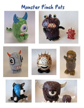 Ceramic Pinch Pot Monster