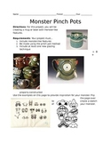 Ceramic Pinch Pot Monster Worksheet