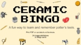 Ceramic Pottery Bingo Game for Class Learning Clay Tools