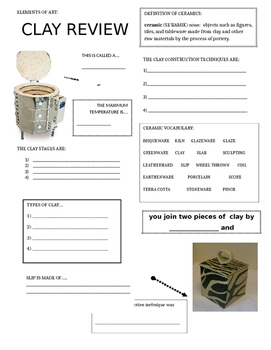 Ceramic Review Sheet